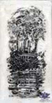 """[Bez tytułu] (ilustracje do wierszy Romualda Szury """"Sosnowe klawisze"""" [4])"""