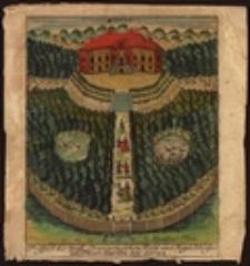 Prospect des Gräfl: Promnitzischen Wald und Fagd=Schosses im Thier=Garten bey Sorau