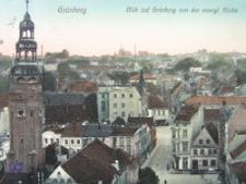 Zielona Góra / Grünberg; Blick auf Grünberg von der evangel. Kirche; Widok na miasto z kościoła Matki Boskiej Częstochowskiej