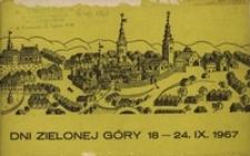 Dni Zielonej Góry 18 - 24. IX. 1967: [informator]