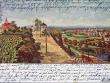 Zielona Góra / Grünberg; Blick auf die Stadt  Grünberg von den Löbtenzpromenade; Widok Zielonej Góry z ul.Słowackiego