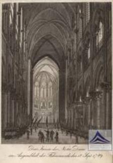 Das Innere der Notre Dame im Augenblick der Fahnenweiheden 12 Sept. 1789
