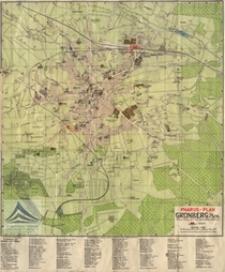 Zielona Góra [mapa] / Pharus-Plan Grünberg i[n] Schl[esien]