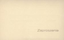 Zaproszenie [...] na miejsce zarezerwowane [...] podczas przemarszu Korowodu Winobraniowego w dniu 29 września 1968 r. o godz. 10.00