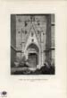 Thür an der katholischen kirche zu Jauer / Drzwi kościoła katolickiego w Jaworze