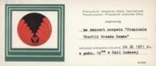 """[Zaproszenie na koncert zespołu """"Tropicale Thaitii Granda Banda"""" 24 IX 1971 r.]"""