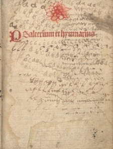 Psalterium et hymnarius
