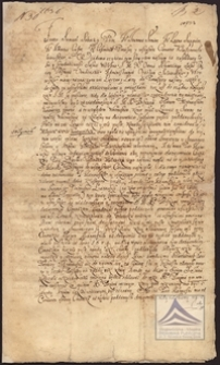 Kontrakt między biskupem Ottonem Schenkingiem, administratorem Opactwa Sulejowskiego i konwentem sulejowskim, a Manowskim w sprawie dożywotniej aredny