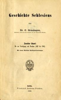 Geschichte Schlesiens (zweiter band): bis zur Vereinigung mit Preussen (1527 bis 1740)