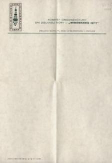 Komitet Organizacyjny Dni Zielonej Góry: [papier okolicznościowy]