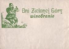 Dni Zielonej Góry: winobranie [koperta]