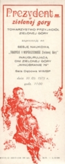 Dni Zielonej Góry '79: [zaproszenia]