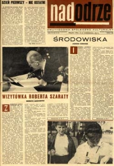 Nadodrze: dwutygodnik społeczno-kulturalny, 15-30 października 1965