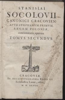 Stanislai Socolovii ... Opera: T. 2