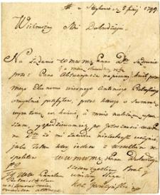 [List Kaz[imierza] Garczyńskiego ze Stajkowa do Prokopa Mielżyńskiego]