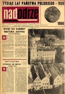 Nadodrze: dwutygodnik społeczno-kulturalny, 1-15 stycznia 1966