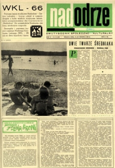 Nadodrze: dwutygodnik społeczno-kulturalny, 15-30 czerwca 1966