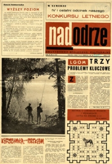 Nadodrze: dwutygodnik społeczno-kulturalny, 15-31 sierpnia 1967