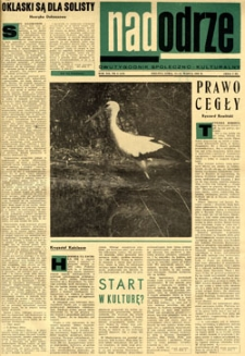 Nadodrze: dwutygodnik społeczno-kulturalny, 15-31 marca 1968