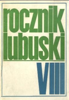 Rocznik Lubuski (t. 8) - spis treści