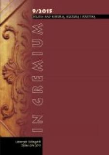 In Gremium : studia nad historią, kulturą i polityką, tom 9 - spis treści